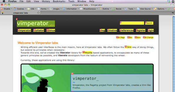 Vimperator QuickLinks